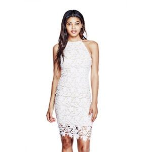 Guess Flume White Lace Dress XS HOST PIC
